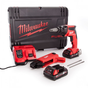 Milwaukee M18FSGC-202X 18V Fuel Drywall Screwgun (2 x 2.0Ah RedLithium-Ion Batteries, Charger & Case)