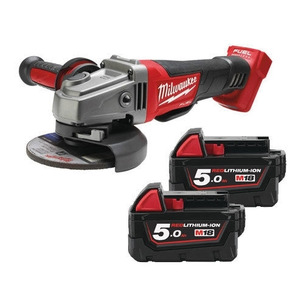 Milwaukee M18CAG115XPDB-502X 18V Fuel Brushless 115mm Angle Grinder (2 x 5.0Ah RedLithium-Ion Batteries)
