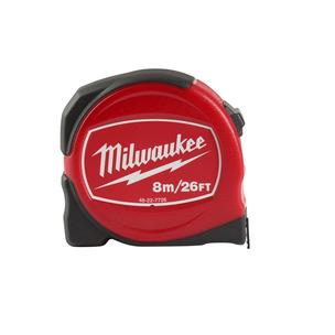 Milwaukee 48227726 8m/26ft Slimline Tape Measure - Metric Only (8m x 25mm)