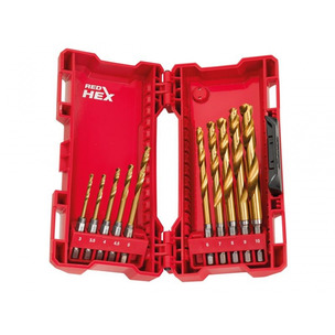 Milwaukee 48894759 10 Piece Shockwave HSS-G Ti Metal Drill Bit (3mm - 10mm)