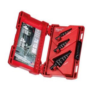 Milwaukee 48899399 3 Piece Step Drill Bit Set (4mm - 12mm / 4mm - 20mm / 6mm - 35mm)