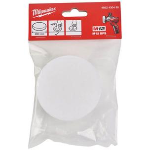 Milwaukee 4932430490 80mm Replacement White Soft Polishing Sponge For M12BPS