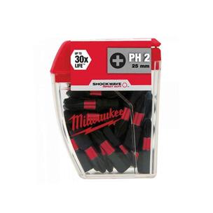 Milwaukee 4932430853 25 Piece 25mm PH2 Impact Bits
