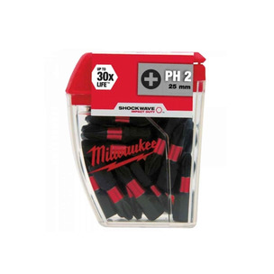 Milwaukee 4932430855 10 Piece 50mm PH2 Screwdriver Bit Set