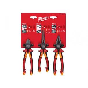 Milwaukee MHT932464575 3 Piece VDE Pliers Set