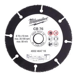 Milwaukee 4932464716 76mm Cut-Off Carbide Blade (For M12FCOT)