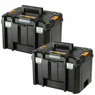 Dewalt DWST1-71195 TSTAK VI Deep 23L Tool Storage Case Heavy Duty - Twin Pack