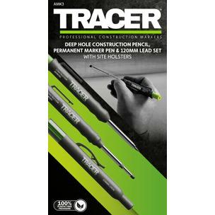 Tracer AMK3 Carpentry Pencil & Marker Pen Set