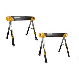 ToughBuilt TOU-C650/2 Adjustable Saw Horse/Trestle Table - Twin Pack