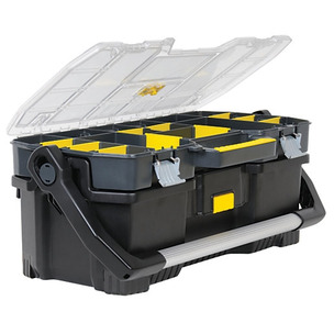 """Stanley 197514 24"""" Toolbox with Tote Tray Organiser"""
