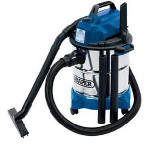 Draper 13785 20L Stainless Steel Industrial Wet & Dry Vacuum Cleaner - 240V/1250W