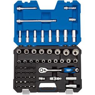 """Draper 16481 60 Piece Expert 1/2"""" Square Drive Metric Multi-Drive Socket Set"""