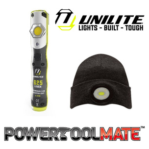 Unilite IL-625R 625 Lumen LED Inspection Light & BE-02+ Beanie Bundle