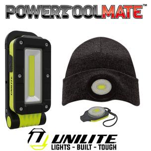 Unilite Slr-500 LED Rechargeable Folding Work Light & Unilite Beanie Bundle!