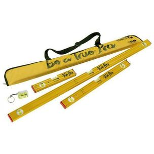 Stabila 80AS/SET 5 Piece True Pro Spirit Level Set (120cm, 60cm, 30cm, Keyring & Bag)