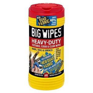 Big Wipes Red Top 4x4 Heavy-Duty Large Hand Cleaning Wipes Tub of 80