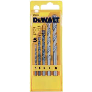 DeWalt DT6952-QZ 5 Piece Masonry Drill Bit Set (4mm - 10mm)
