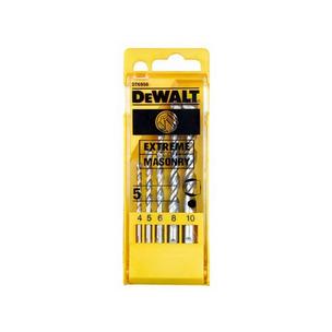 DeWalt DT6956 5 Piece Extreme 2 Masonry Drill Bit Set (4mm - 10mm)