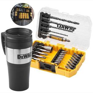 DeWalt DT70706M 25 Piece Rapid Load Hex Screwdriver Drill Bit Set + Thermo Mug