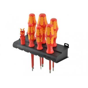 Wera TBK16017 8 Piece Kraftform Plus VDE Screwdriver Set & Screw Grips