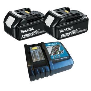 Makita BL1830 18V LXT 3.0Ah Li-ion Batteries & DC18RC Charger Kit (2 x Batts & Charger)