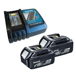 Makita BL1850 18V LXT 5.0Ah Li-Ion Batteries & DC18RC Charger Kit (2 x Batts & Charger)