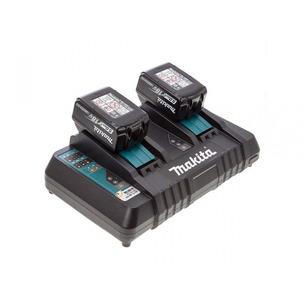 Makita BL1850 18V LXT 5.0Ah Li-Ion Batteries (Twin Pack) + DC18RD/2 Dual Port Charger