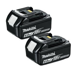 Makita BL1860 18V LXT 6.0Ah Li-Ion Batteries (Twin Pack)