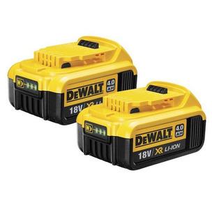 DeWalt DCB182 18V XR 4.0Ah Li-ion Batteries (Twin Pack)