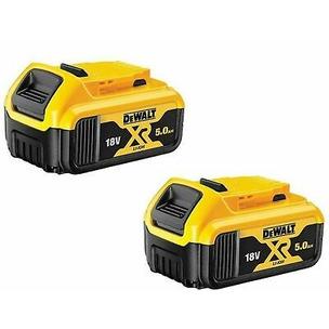 DeWalt DCB184 18V XR 5.0Ah Li-Ion Batteries (Twin Pack)