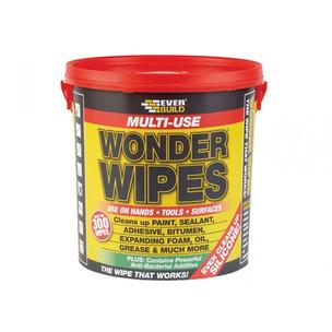 Everbuild GIANTWIPE Giant Wonder Wipes x 300 Antibacterial