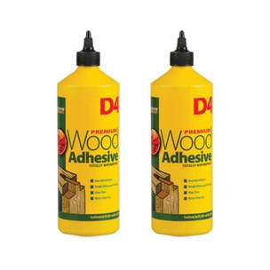 Everbuild HH0119102380 1 Litre D4 Wood Adhesive (TWIN PACK)