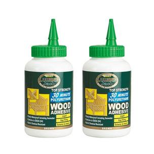Everbuild HH0119102520 Lumberjack 30min Polyure Wood Adhesive Liquid 750ml (TWIN PACK)