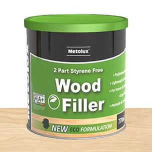Metolux 770ml 2 Part Styrene-Free Professional Wood Filler | Light Oak