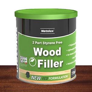 Metolux 770ml 2 Part Styrene-Free Professional Wood Filler | Mahogany