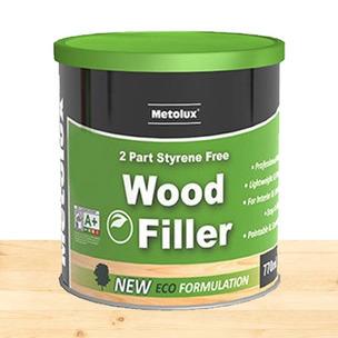 Metolux 770ml 2 Part Styrene-Free Professional Wood Filler | Pine