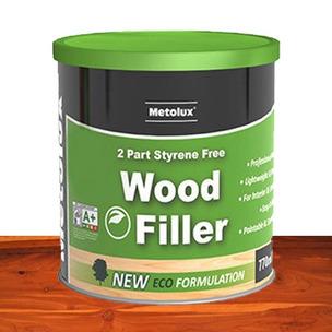 Metolux 770ml 2 Part Styrene-Free Professional Wood Filler | Redwood