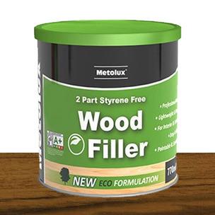 Metolux 770ml 2 Part Styrene-Free Professional Wood Filler | Dark Oak/Teak