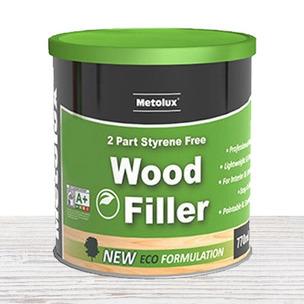 Metolux 770ml 2 Part Styrene-Free Professional Wood Filler | White