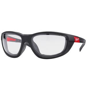Milwaukee Premium Safety Glasses Clear w/Gasket - Fog-Free Lenses