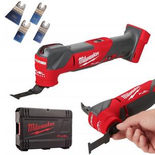 Milwaukee M18FMT-0X Fuel 18V Multi-tool with Case & H4MAK 4 Piece Blade Set