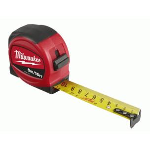 Milwaukee 48227717 5m Slimline Tape Measure - Metric Only (5m x 25mm)