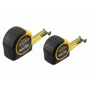 Stanley STA081745 5m & 8m FatMax Classic Tape (Width 32mm)  TWIN PACK