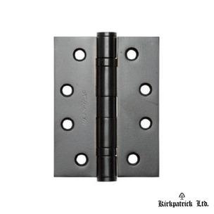 "5141 Kirkpatrick Smooth Black 4"" Ball Bearing Butt Hinge"