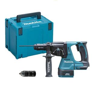 Makita DHR243ZJ Cordless18V SDS+ Plus Brushless Rotary Hammer Drill & MAKPAC 4