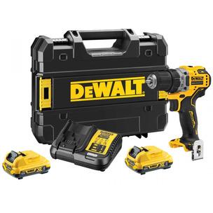 DeWalt DCD701D2 12V 2 x 2Ah XR Brushless Sub Compact Drill Driver