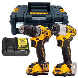 DeWalt DCK2110L2T 12V Brushless Drill Driver and Impact Driver With 2 x 3.0Ah Batteries