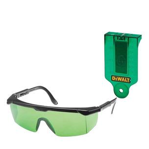 DeWalt DE0714G Green Laser Protective Glasses & DE0730G Green Laser Target Card