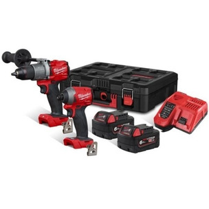 Milwaukee M18FPP2A2-602P M18 Fuel Percussion Drill Impact Driver Kit