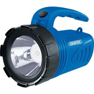 Draper RHL3W/LE/B 3W LED Rechargeable Spotlight